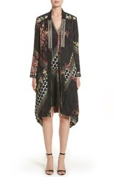 Etro Women's Floral And Polka Dot Jacquard Topper Black