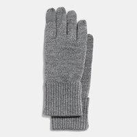 Coach Knit Touchscreen Glove Heather Grey