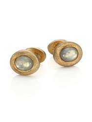 Robin Rotenier Oval Stud Cuff Links Gold