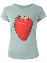 Zadig And Voltaire Strawberry Print T Shirt Blue