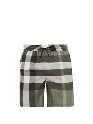 Burberry Exploded Check Swim Shorts Green