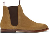 Hudson H By Tan Suede Tamper Boots