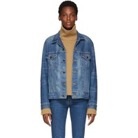 Khaite Blue Denim Oversized Cate Jacket