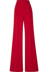 Andrew Gn Crepe Wide Leg Pants Red