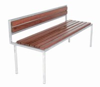 Modern Outdoor Talt 5 Bench Multicolor