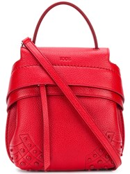 Tod's Wave Mini Backpack Red