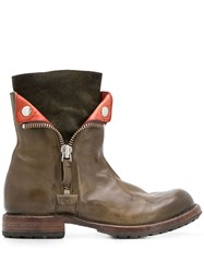 Moma Side Zipped Boots Green