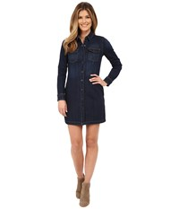 Kut From The Kloth Blake Front Pocket Shirtdress Concentrate Dark Stone Base Wash Women's Dress Black