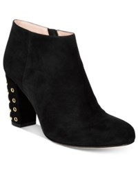 Kate Spade New York Cirra Round Toe Embellished Heel Booties Women's Shoes Black