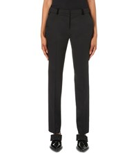 The Kooples Velvet Trim Stretch Wool Trousers Black