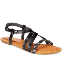 Roxy Tigres Braided Gladiator Sandals Women's Shoes Black