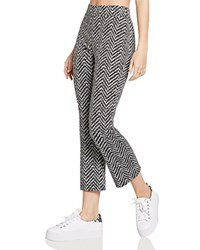 Bcbgeneration Chevron Cropped Pants Black Combo