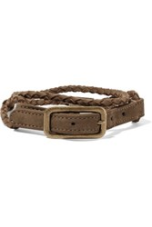 Zimmermann Braided Suede Belt Army Green
