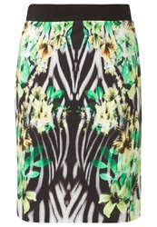 Betty Barclay Pencil Skirt Black Green Multicoloured