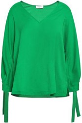 Claudie Pierlot Crepe De Chine Blouse Green