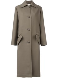 Nina Ricci Single Breasted Coat Green
