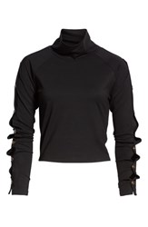 Ivy Park Armour Popper Sleeve Top Black