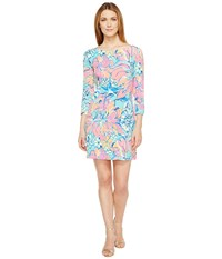 Lilly Pulitzer Upf 50 Sophie Dress Seaside Aqua Breezy Babe Women's Dress Blue
