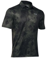 Under Armour Men's Special Edition Playoff Polo Combat Green Print