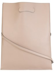 Maison Martin Margiela Slim Tote Bag Nude And Neutrals
