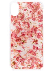 Anrealage Pressed Florals Iphone Case Pink And Purple