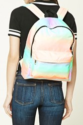 Forever 21 Watercolor Backpack Green Multi