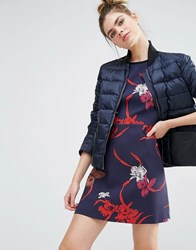 Sportmax Code Padded Jacket With Contrast Pocket 004 Navy