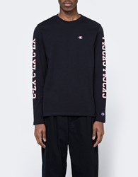 Champion X Beams Ls Crewneck T Shirt Black