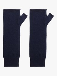 Gerard Darel Ilian Cashmere Wrist Warmer Gloves Blue