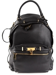 Moschino Padlock Backpack Black