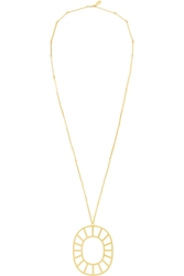 Arme De L'amour Gold Plated Medallion Necklace