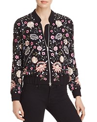 Aqua X Maddie And Tae Embellished Bomber Jacket 100 Bloomingdale's Exclusive Black