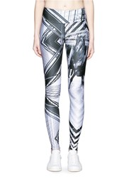 We Are Handsome 'The Siege' Scenic Print Active Leggings Multi Colour