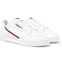 Adidas Originals Continental 80 Grosgrain Trimmed Leather Sneakers White