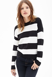 Forever 21 Rugby Striped Crew Neck Sweater