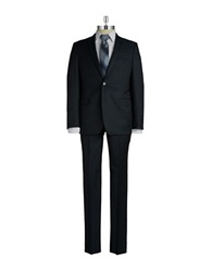 Dkny Two Piece Wool Suit Blue