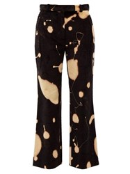 Hillier Bartley Bleach Splatter Corduroy Trousers Black Multi