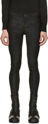 Julius Black Panelled Skinny Jeans