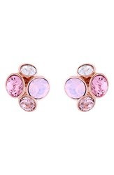 Women's Ted Baker London 'Lynda' Jewel Cluster Stud Earrings Light Pink Multi Rose Gold