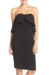 Chelsea 28 'S Chelsea28 Ruffle Stretch Crepe Sheath Dress Black