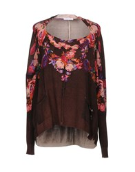 Patrizia Pepe Sweaters Brown
