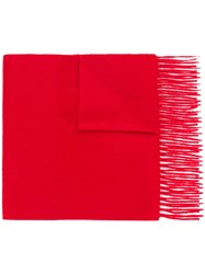 N.Peal Woven Scarf Cashmere Red