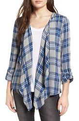 Roxy Women's City Plaid Drape Front Cardigan