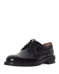 Lanvin Abrasivato Leather Derby Shoe Black