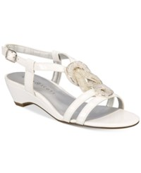 Karen Scott Clemm Wedge Sandals Only At Macy's Women's Shoes White