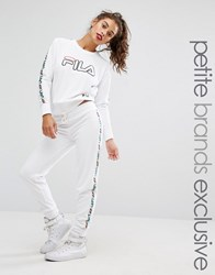 Fila Petite Velour Motif Tracksuit Bottom White