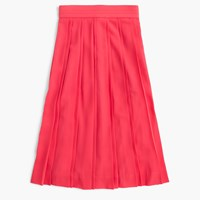 J.Crew Tall Double Pleated Midi Skirt Wildflower Pink