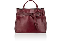 Campomaggi Leather Tote Bag Wine