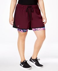Ideology Plus Size 2 In 1 Shorts Only At Macy's Sweet Fig