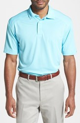 Men's Big And Tall Cutter And Buck 'Genre' Drytec Moisture Wicking Polo Crystal Blue